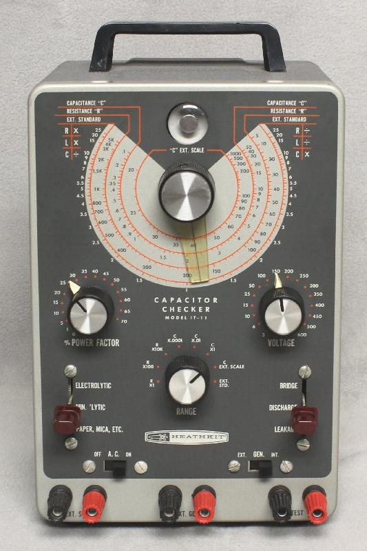 Radiolaguy Com Heathkit Capacitor Checker Model It 11
