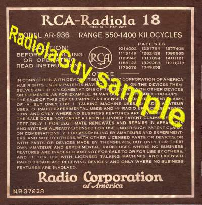 RadiolaGuy.com : Radiola manuals : RCA Victor manuals ... on