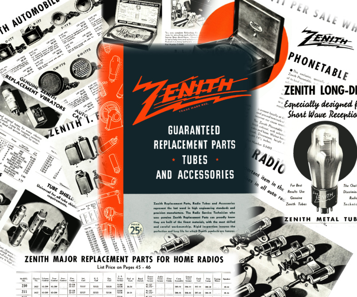 Radiolaguy Zenith Manuals And Paper Owners Service Labels. Zenith Parts Accessories Catalog 1938. Wiring. Zenith Tube Radio Schematics 1938 At Scoala.co
