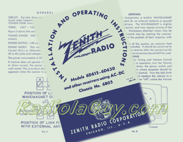 Radiolaguy Zenith Manuals And Paper Owners Service Labels. Zenith 6d615 6d630. Wiring. Zenith Tube Radio Schematics 5h40 At Scoala.co